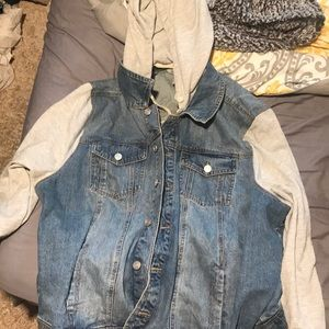 Button up Jean jacket/hoodie